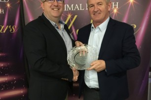 Liam Walsh winner at Animal Health All Stars Awards 2019
